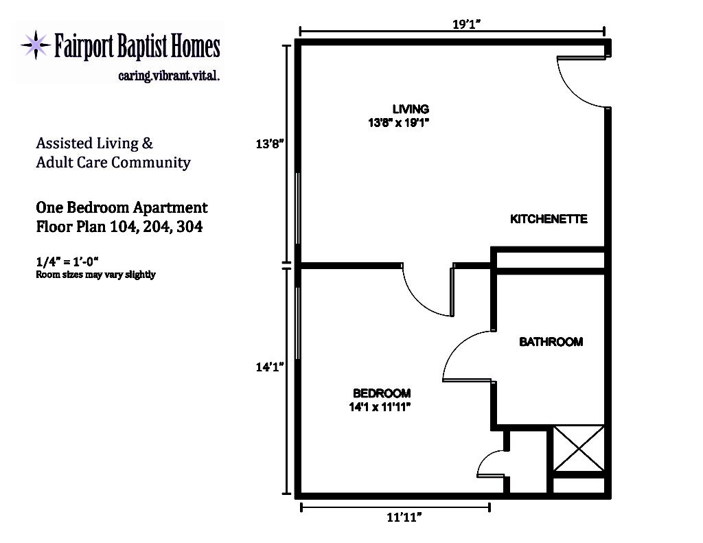 Fairport baptist homes assisted living fairport for Floor plan services