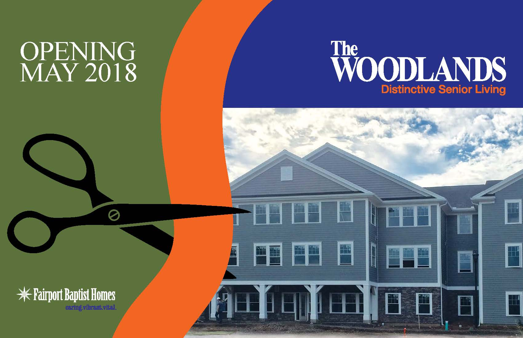 Fairport Baptist Homes The Woodlands Opens May 2018 Call For